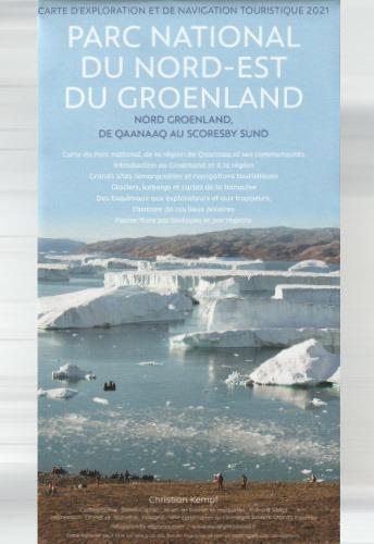 carte touristique du Nord-Est du Groenland